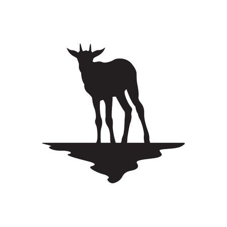 zoological: deer silhouette