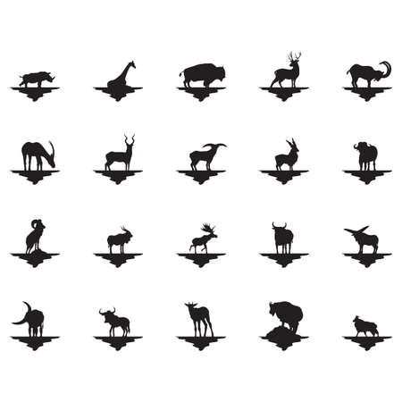 zoological: set of animal silhouettes