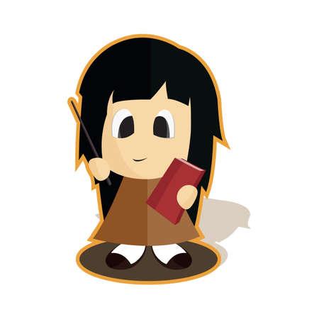 tutor: girl tutor Illustration