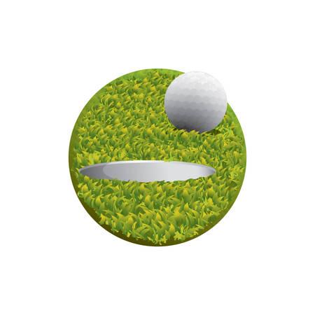 hole: golf ball and hole Illustration