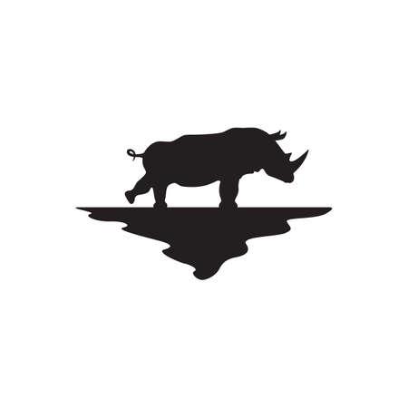 hippopotamus: silueta hipopótamo