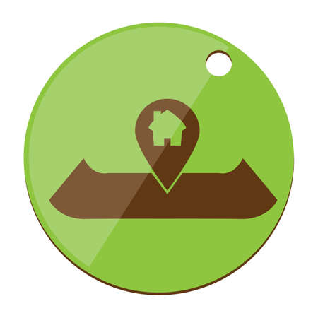 pin point: navigation map with pin point Illustration