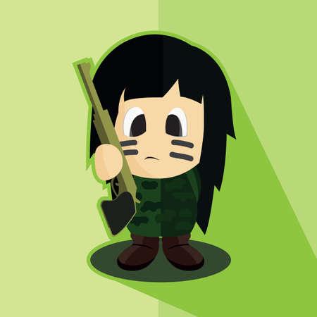 military girl: army girl