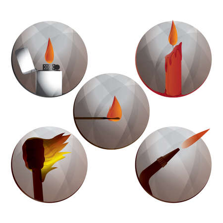 flick: fire related icons Illustration