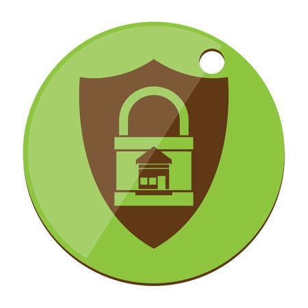 locked: protected locked home Illustration