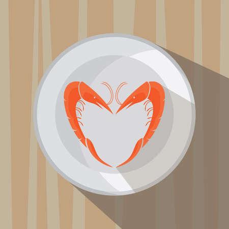 item: heart shape food item Illustration