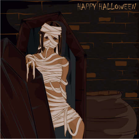 mummified: happy halloween Illustration