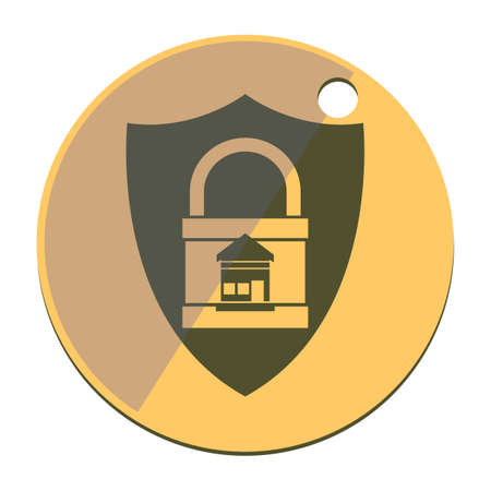 locked: protected locked home Illustration