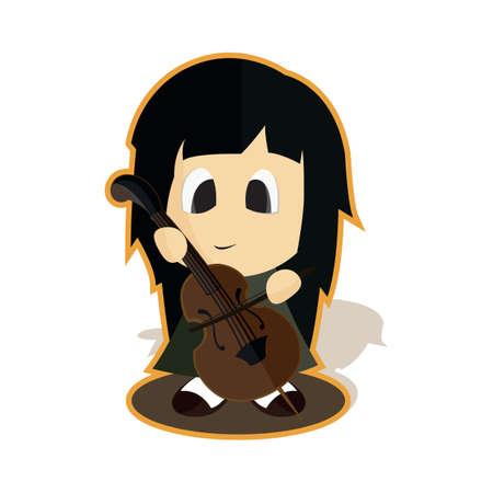 girl: girl playing violin