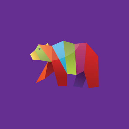 faceted: colorful faceted bear