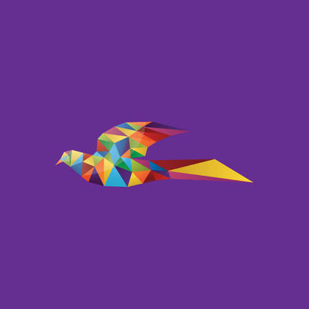 faceted: colorful faceted bird