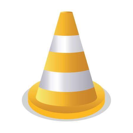 stripe: yellow and white stripe cone