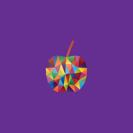 faceted: colorful faceted apple