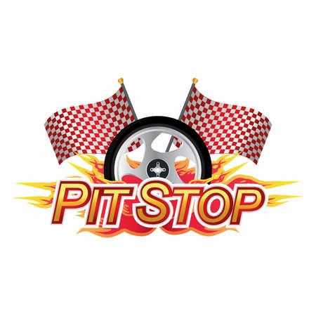 pit stop race sign