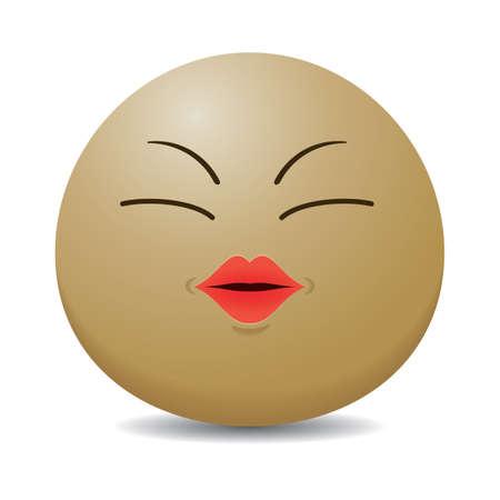 smiley: smiley emoticon kissing Illustration