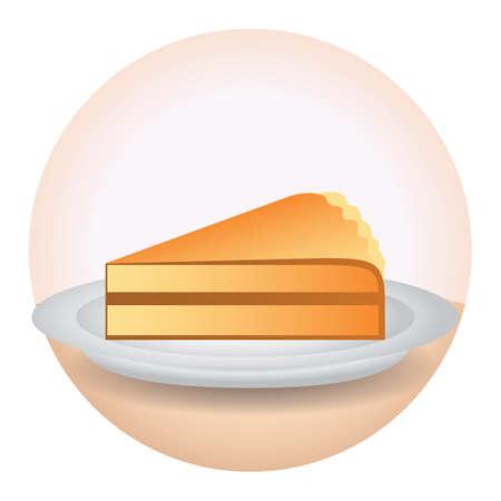 pumpkin pie: pumpkin pie slice Illustration