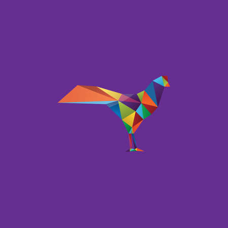 faceted: colorful faceted chicken