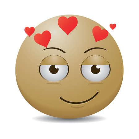 smiley: smiley emoticon in love