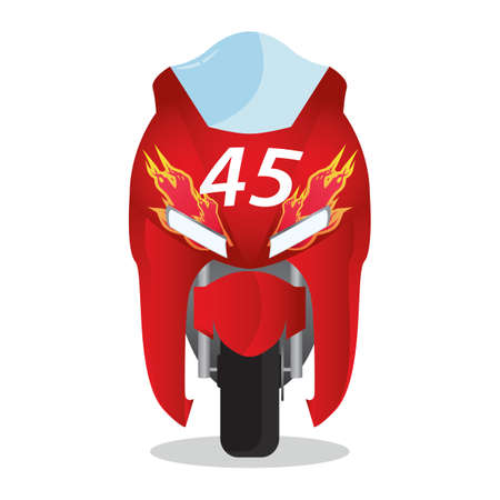 racing bike: racing bike Illustration