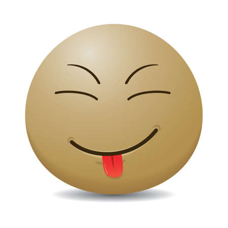 tongue out: smiley emoticon sticking tongue out Illustration
