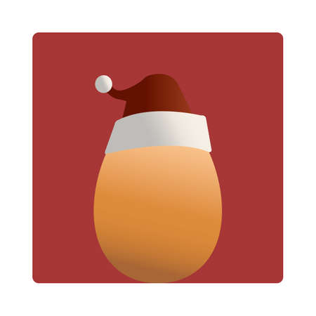 mas: egg with santa hat