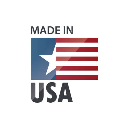 made in usa label Vector Illustration
