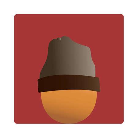 beanie: egg wearing a beanie Illustration