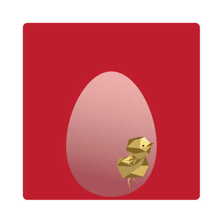 faceted: egg painted with a faceted chick picture