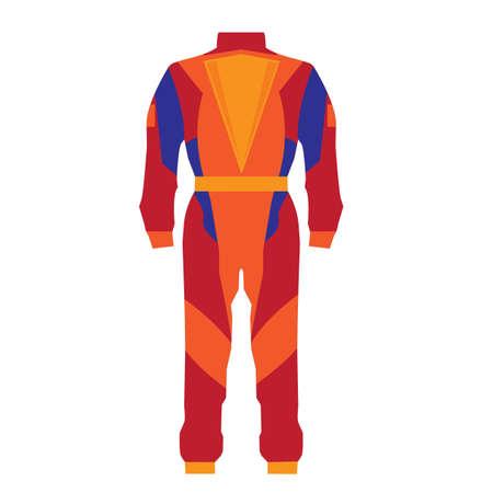 backview: motorcyclist uniform