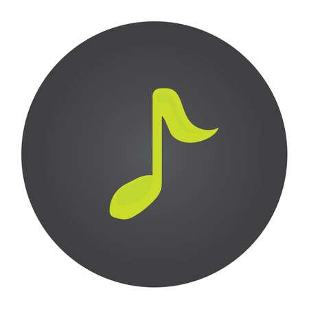 quaver: musical quaver notes Illustration