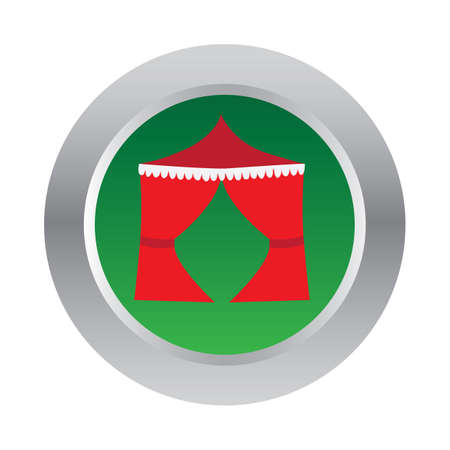 drapes: canopy tent button Illustration