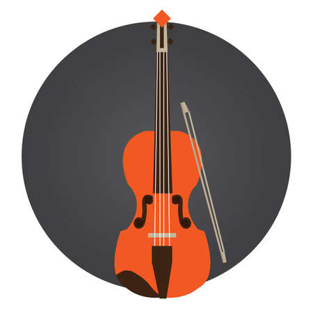 fiddles: violin Illustration