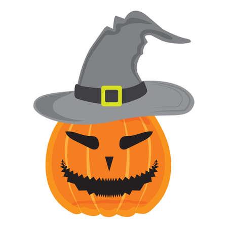 wearing: halloween pumpkin wearing witch hat