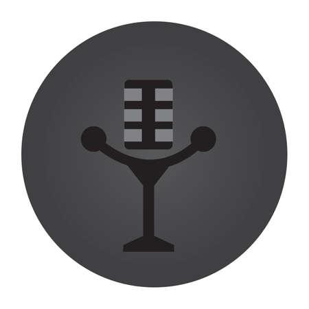 retro microphone: retro microphone Illustration