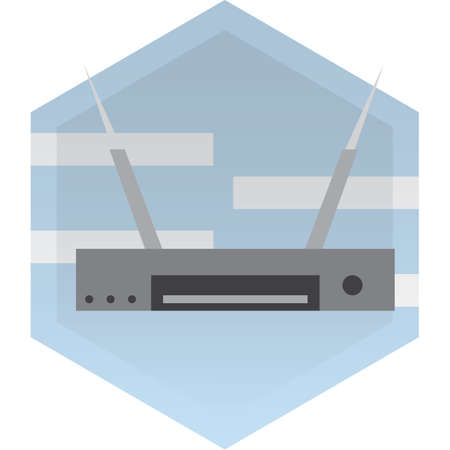 network router: wireless network router Illustration