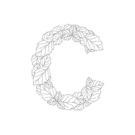letra c  Ilustración de vector