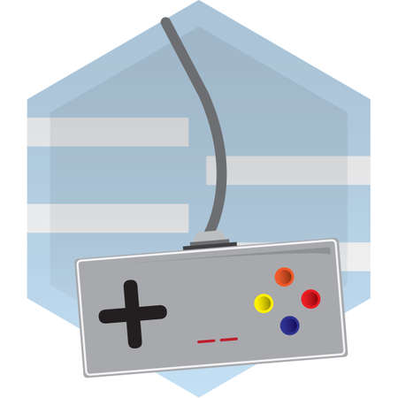 joy pad: video game controller Illustration