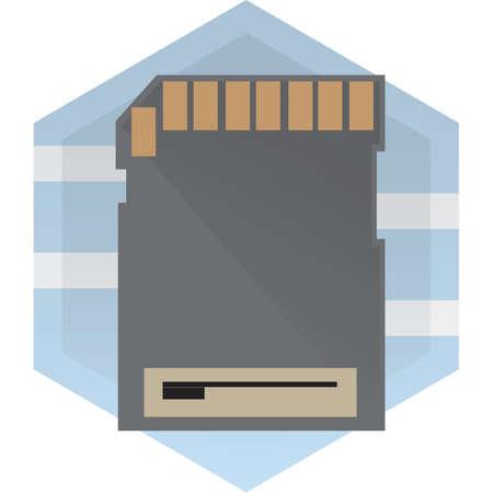 micro chip: memory card