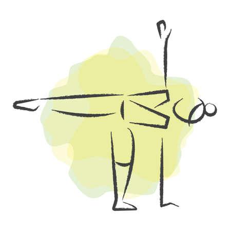 half moon: woman practising yoga in half moon pose