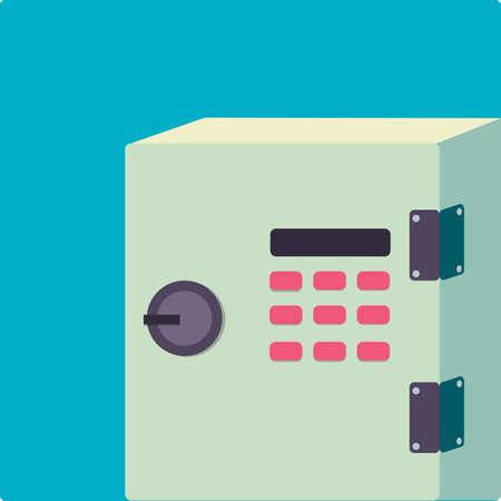 steel: steel safe box Illustration