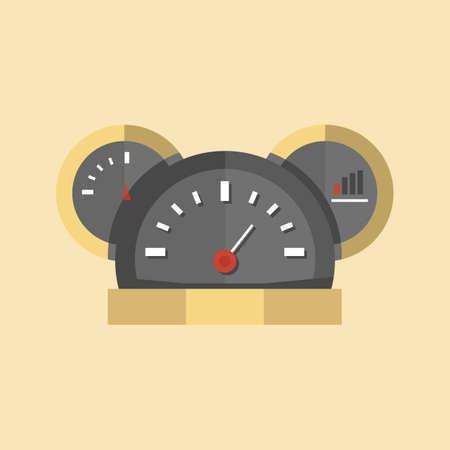 dashboard fuel gauge and speedometer