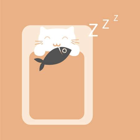snoring: cat snoring Illustration