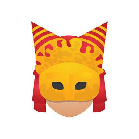 venetian: person wearing venetian mask Illustration