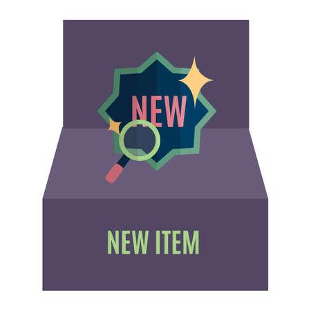 item: new item search symbol Illustration