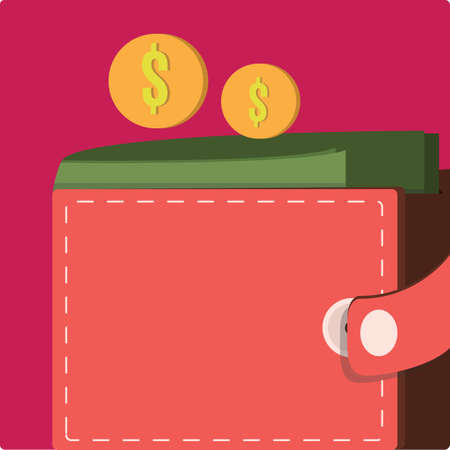 spending: wallet with money Illustration