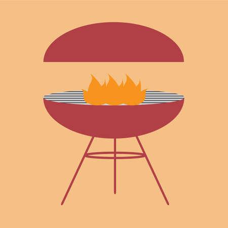 grill: barbecue grill Illustration