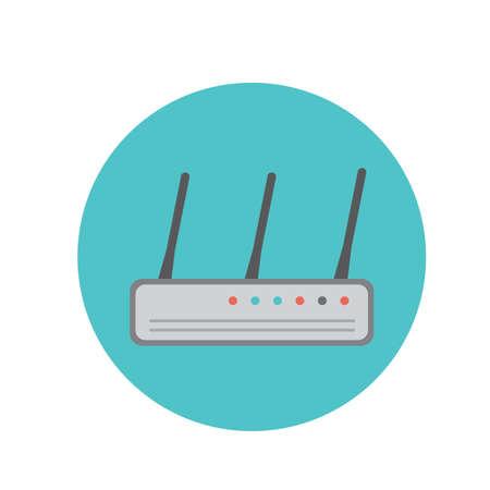 modem: wireless modem router Illustration