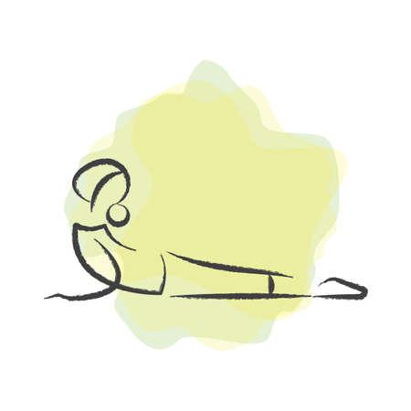 woman practising yoga in cobra pose