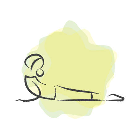 donna praticare lo yoga in posa della cobra