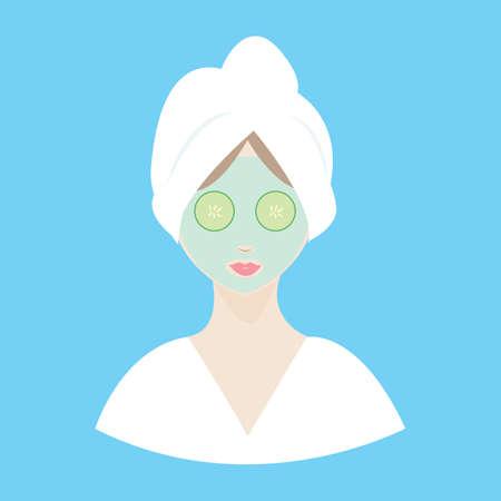 facial: facial treatment Illustration